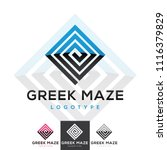 vector greek pattern maze... | Shutterstock .eps vector #1116379829