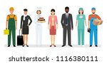 group of seven people with... | Shutterstock .eps vector #1116380111