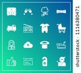 modern  simple vector icon set... | Shutterstock .eps vector #1116380471