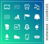 modern  simple vector icon set... | Shutterstock .eps vector #1116381101