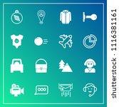 modern  simple vector icon set... | Shutterstock .eps vector #1116381161
