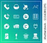 modern  simple vector icon set... | Shutterstock .eps vector #1116381191