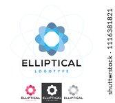 vector elliptical atom molecule ... | Shutterstock .eps vector #1116381821
