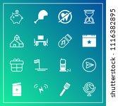 modern  simple vector icon set... | Shutterstock .eps vector #1116382895