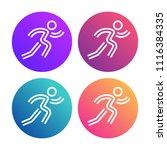 cool concept for city marathon... | Shutterstock .eps vector #1116384335