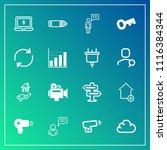 modern  simple vector icon set...   Shutterstock .eps vector #1116384344