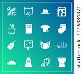 modern  simple vector icon set... | Shutterstock .eps vector #1116384371