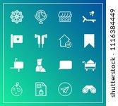 modern  simple vector icon set... | Shutterstock .eps vector #1116384449