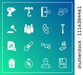 modern  simple vector icon set... | Shutterstock .eps vector #1116384461