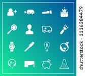 modern  simple vector icon set... | Shutterstock .eps vector #1116384479