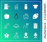 modern  simple vector icon set... | Shutterstock .eps vector #1116384485