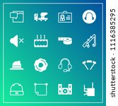 modern  simple vector icon set... | Shutterstock .eps vector #1116385295