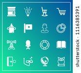 modern  simple vector icon set... | Shutterstock .eps vector #1116385391