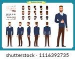 standing young businessman.... | Shutterstock .eps vector #1116392735