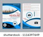 modern business two sided flyer ... | Shutterstock .eps vector #1116397649