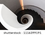 spiral shaped stairs | Shutterstock . vector #1116399191