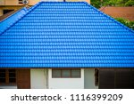the blue roofs. | Shutterstock . vector #1116399209