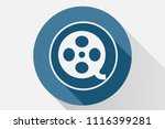 blue movie icon. | Shutterstock .eps vector #1116399281
