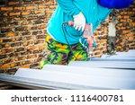 technician working renew the... | Shutterstock . vector #1116400781