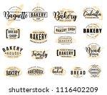 bakery hand drawn lettering...   Shutterstock .eps vector #1116402209