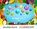 vitamin and mineral banner with ... | Shutterstock .eps vector #1116402245