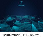 abstract technology blue color... | Shutterstock .eps vector #1116402794