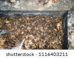 close up garbage on the roof. | Shutterstock . vector #1116403211