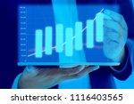 businessman on digital stock... | Shutterstock . vector #1116403565