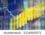 businessman on digital stock... | Shutterstock . vector #1116403571