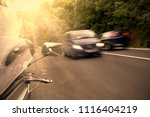 the car on the road at full... | Shutterstock . vector #1116404219