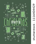merry christmas  vector... | Shutterstock .eps vector #1116404429