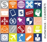 set of 25 business icons or... | Shutterstock .eps vector #1116405875