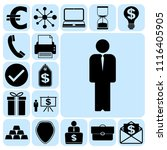 set of 17 business icons or... | Shutterstock .eps vector #1116405905