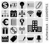 set of 22 business icons ... | Shutterstock .eps vector #1116405911