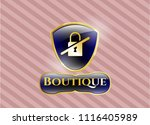 golden badge with inaccessible ... | Shutterstock .eps vector #1116405989