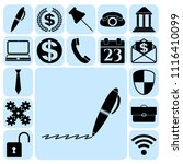 set of 17 business high quality ... | Shutterstock .eps vector #1116410099