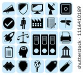 set of 22 business symbols of... | Shutterstock .eps vector #1116410189