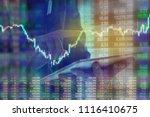 businessman on digital stock... | Shutterstock . vector #1116410675
