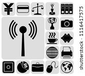 set of 17 business high quality ... | Shutterstock .eps vector #1116417575