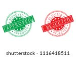 approved and rejected stamp...
