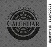 calendar dark emblem | Shutterstock .eps vector #1116420221