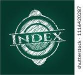 index on chalkboard | Shutterstock .eps vector #1116420287