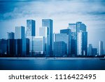 modern city waterfront downtown ... | Shutterstock . vector #1116422495
