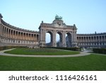 the cinquantenaire is a large... | Shutterstock . vector #1116426161