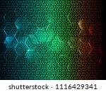 binary circuit board future... | Shutterstock .eps vector #1116429341