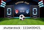 2018 soccer cup  digital timing ... | Shutterstock .eps vector #1116430421