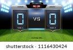 digital timing scoreboard ... | Shutterstock .eps vector #1116430424
