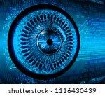 binary circuit board future... | Shutterstock .eps vector #1116430439