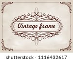 decorative frame in vintage... | Shutterstock .eps vector #1116432617