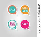 vector labels stickers with... | Shutterstock .eps vector #111643445